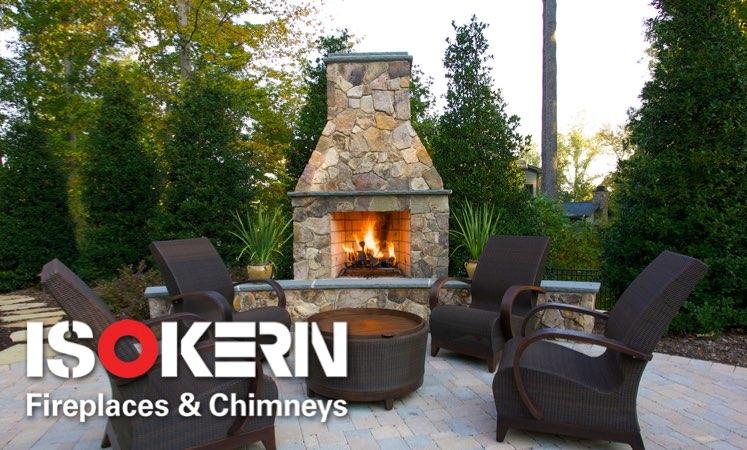 isokern 800 Wood Burning Outdoor Fireplaces